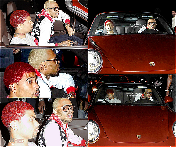 . 13.05.2013 : Chris  t aperue en sortant du club &quot;Greystone Manor&quot; a Hollywood. . 